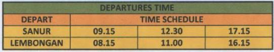 departure LEMBONGAN